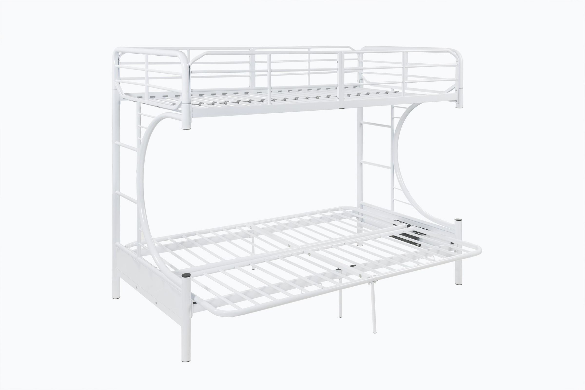 Eclipse Twin Full Futon Bunk Bed In White By Acme At Gardner White
