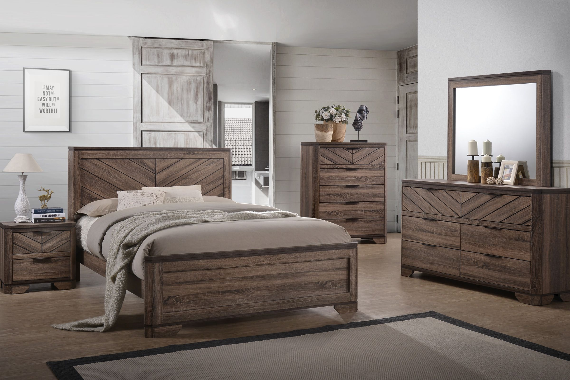 Seaburg 5 Piece Queen Bedroom Set At Gardner White