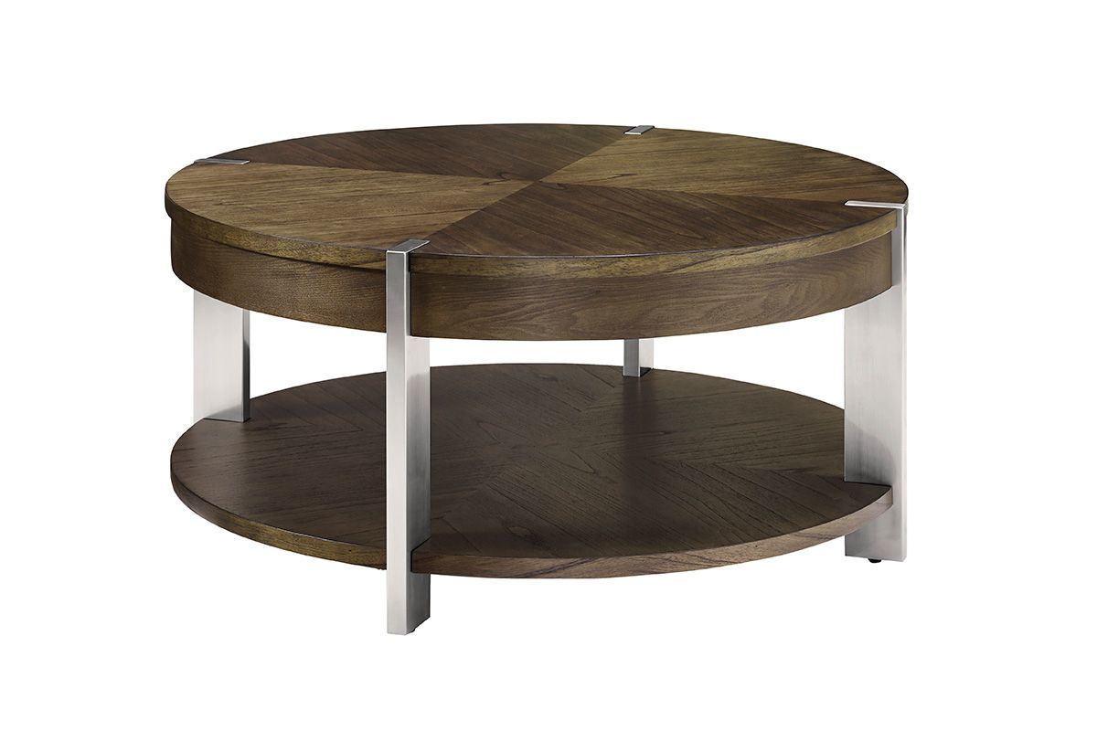 Contemporary Round Cocktail Table by Bauhaus from Gardner-White Furniture