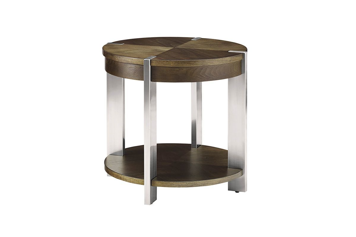 Contemporary Round End Table by Bauhaus from Gardner-White Furniture