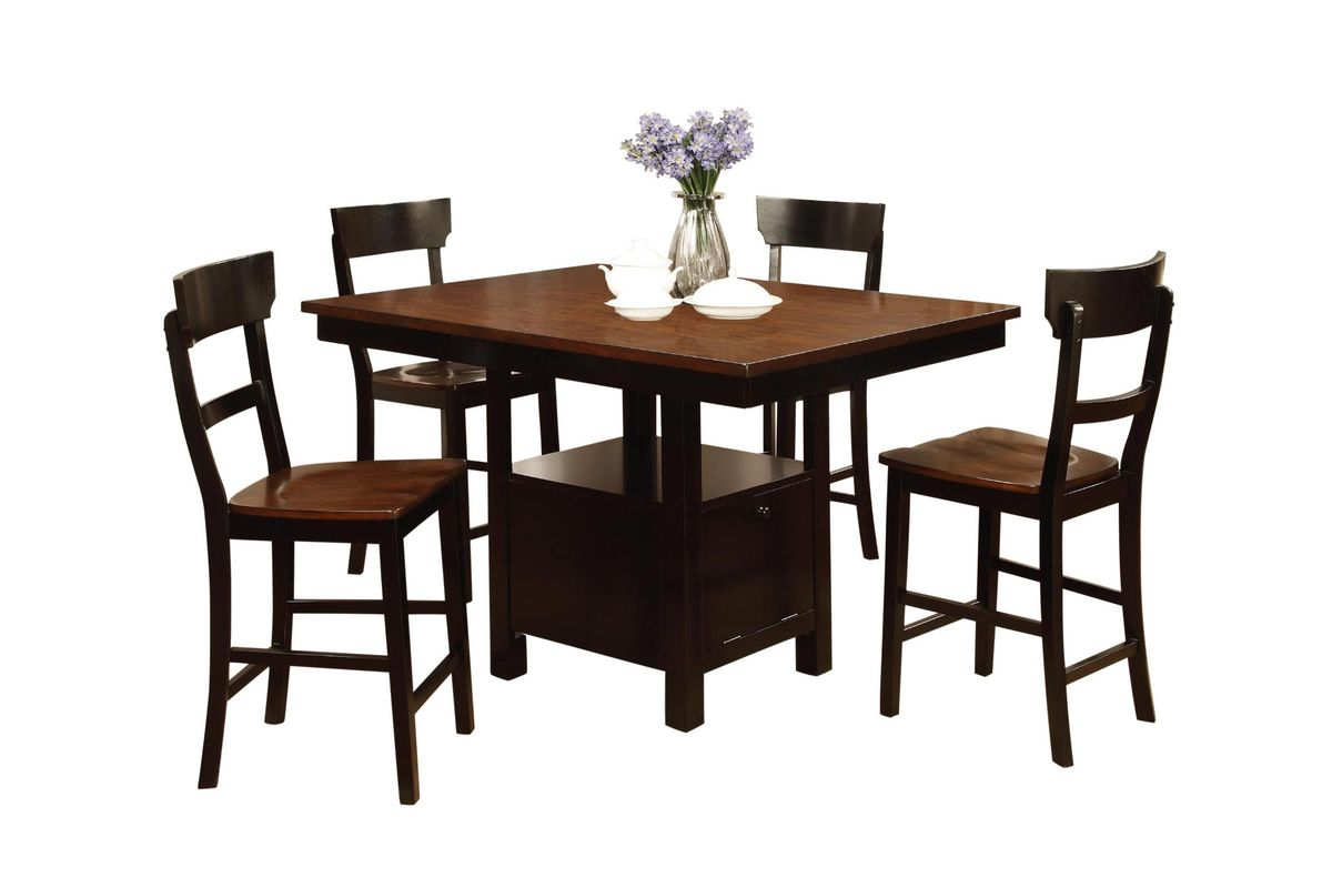 Rowley Pub Table + 6 Stools from Gardner-White Furniture