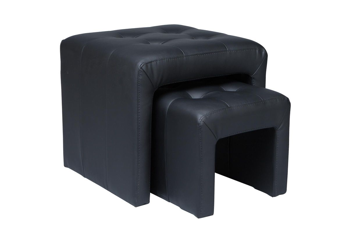 Black Nesting Ottomans from Gardner-White Furniture