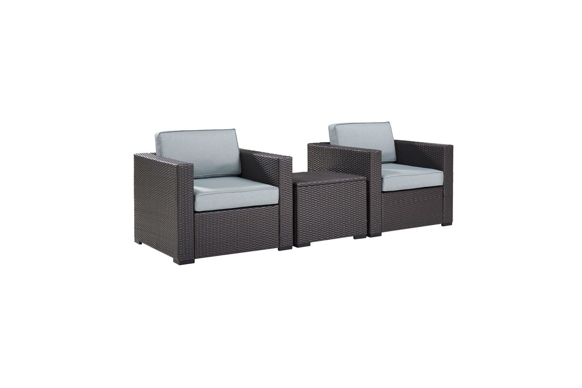Biscayne Mist 2 Person Outdoor Seating Set by Crosley from Gardner-White Furniture
