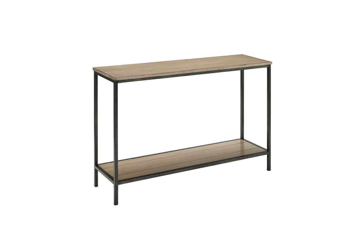 Brooke Console Table in Washed Oak by Crosley from Gardner-White Furniture