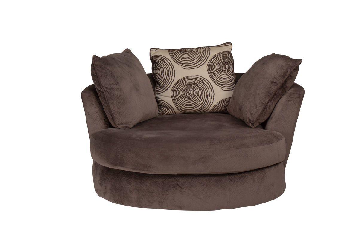 Channing Microfiber Swivel Pod from Gardner-White Furniture