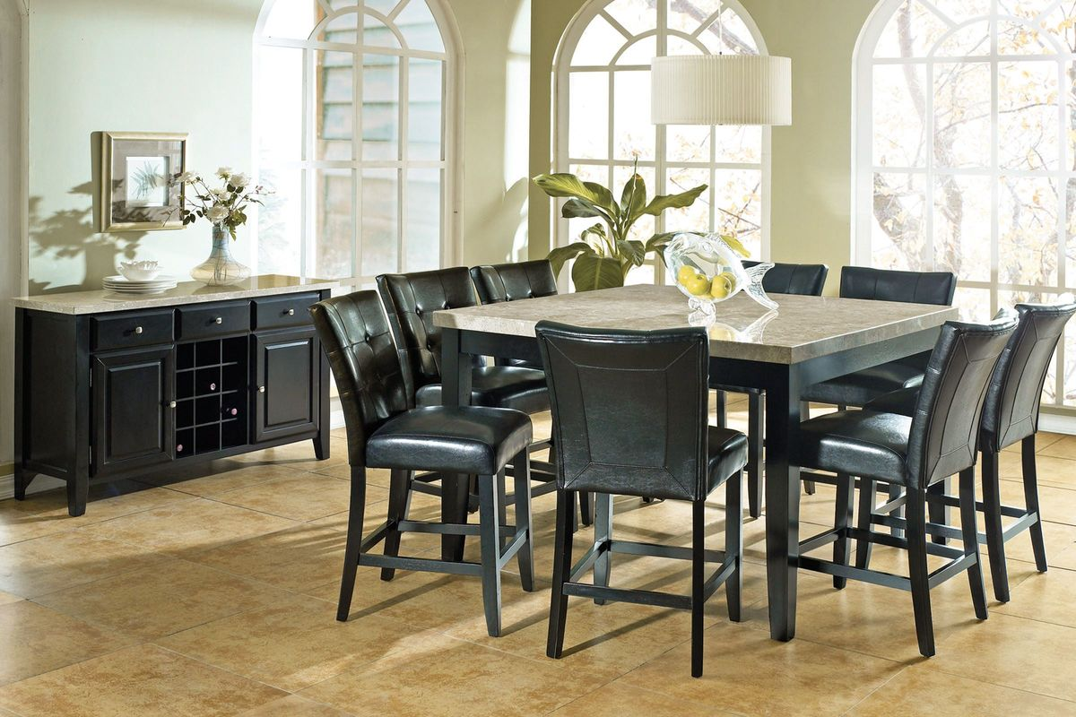 Monarch Gathering Table + 8 Stools from Gardner-White Furniture