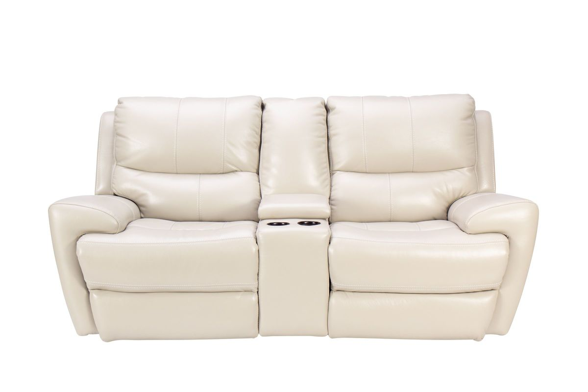 Picture of: Andros Leather Power Reclining Console Loveseat At Gardner White