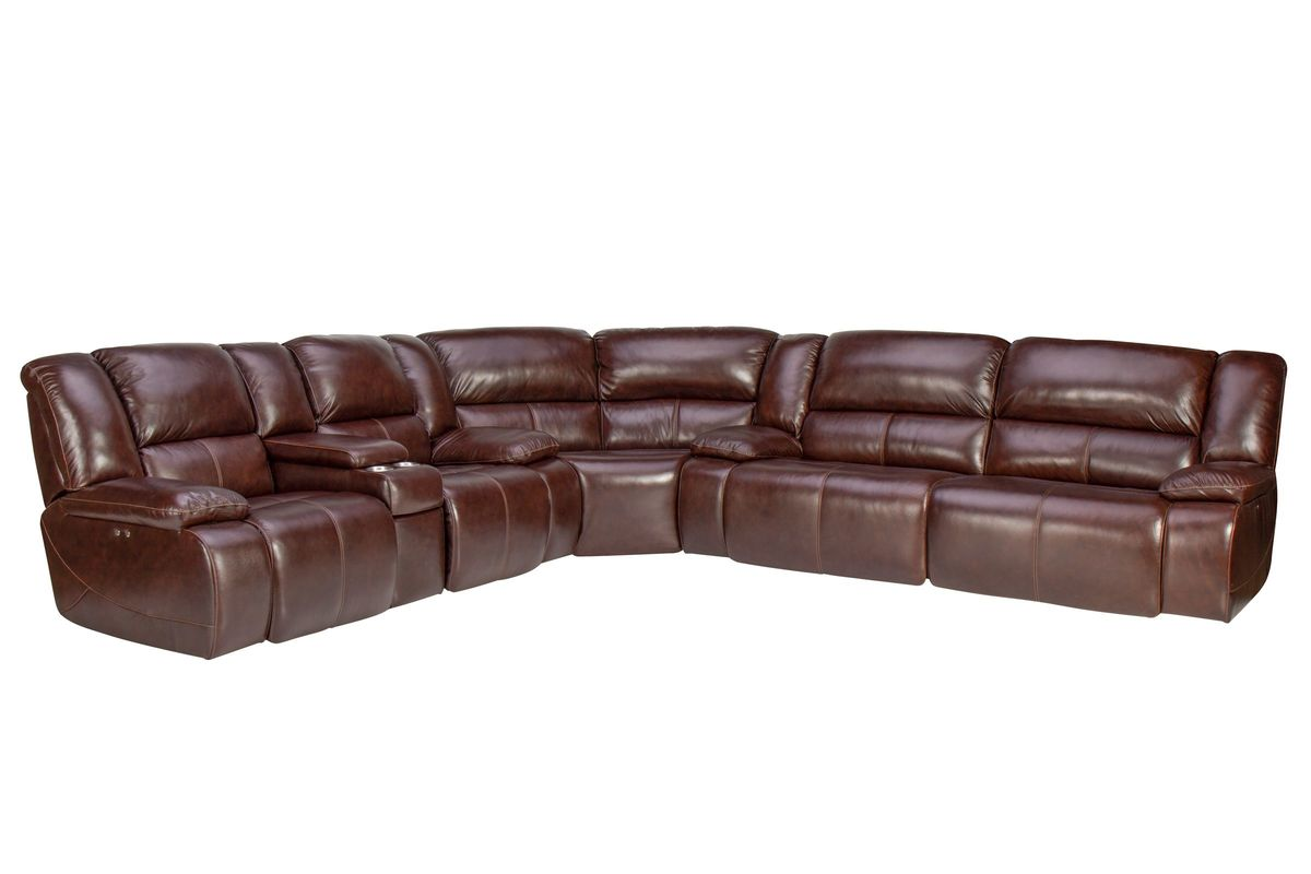 Amarillo Reclining Leather Sectional from Gardner-White Furniture
