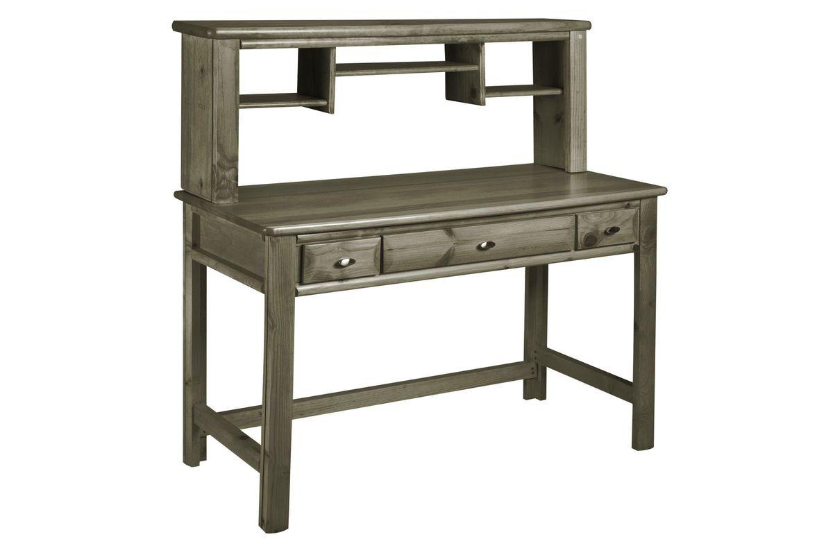 Laguna Grey Desk + Hutch from Gardner-White Furniture