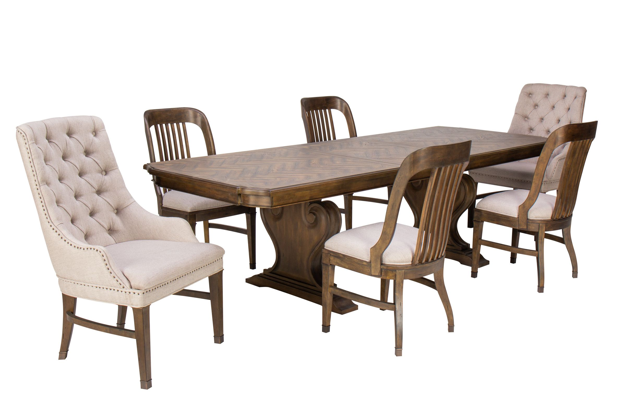 Picture of: Jefferson Dining Table 4 Chairs 2 Host Chairs At Gardner White