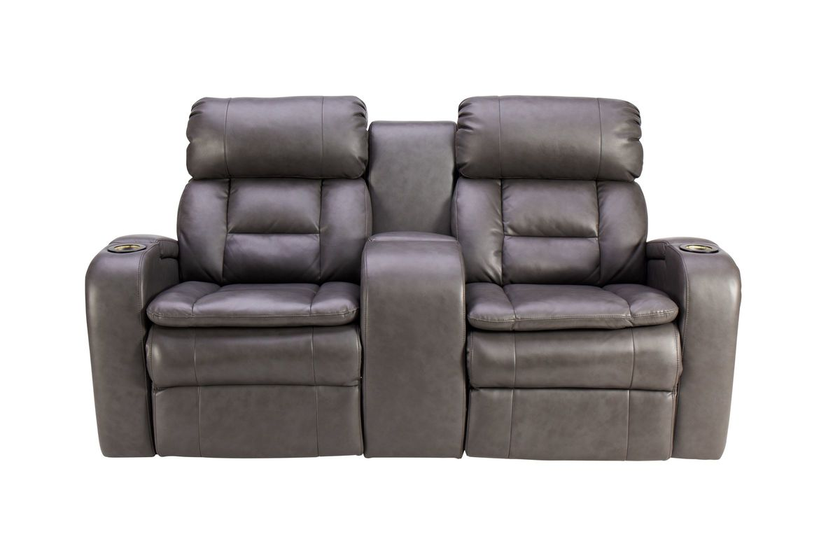 Zenith Power Reclining Loveseat with Console from Gardner-White Furniture
