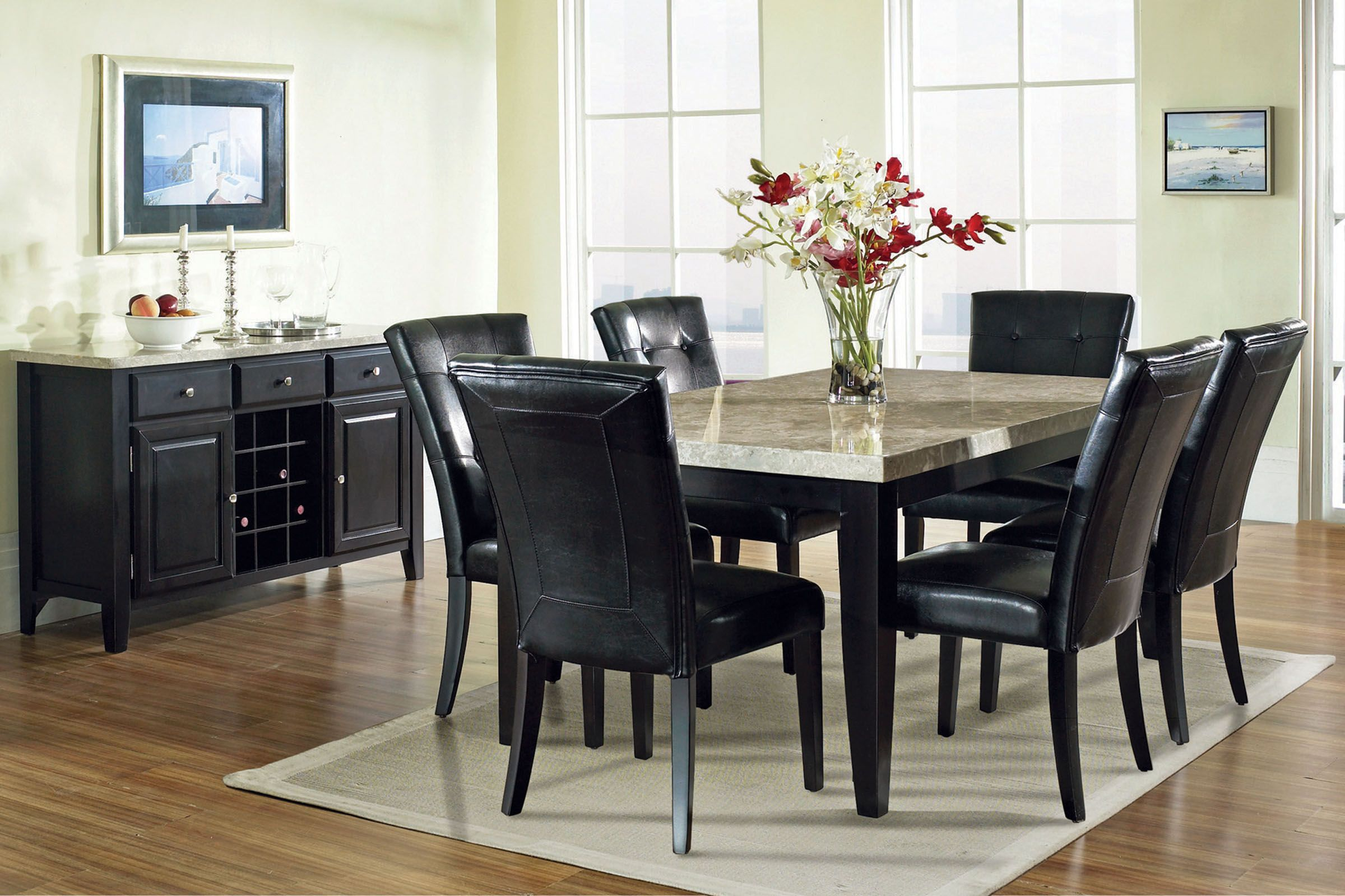Cucina Letters Kitchen Decor, Monarch Dining Table 6 Chairs At Gardner White