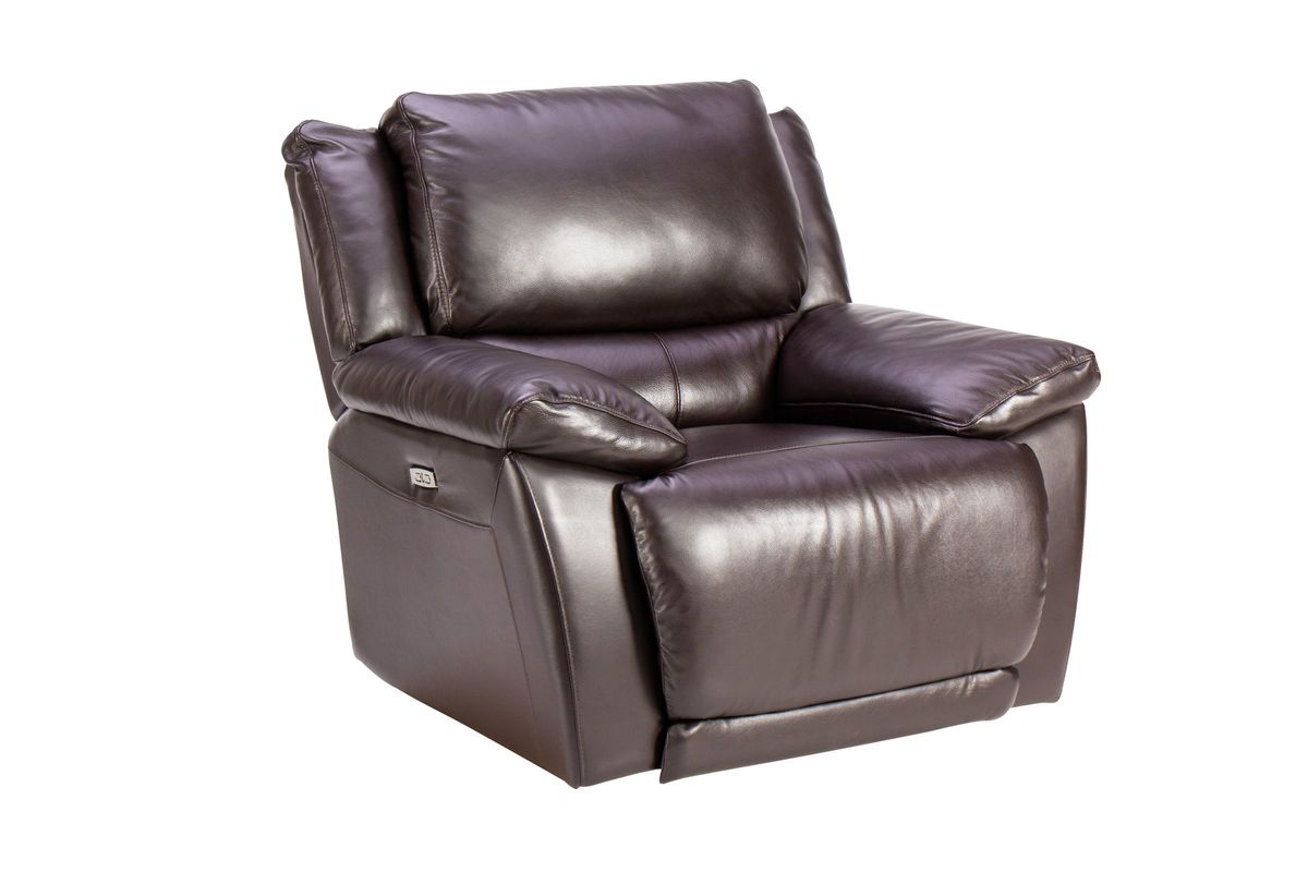 Creed Leather Power Recliner from Gardner-White Furniture