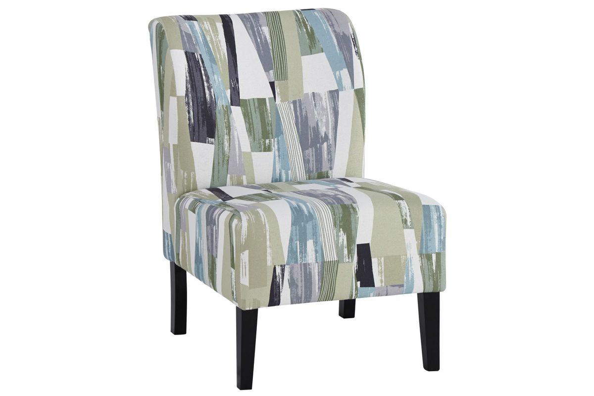 Triptis Accent Chair in Green, Blue and Grey by Ashley from Gardner-White Furniture