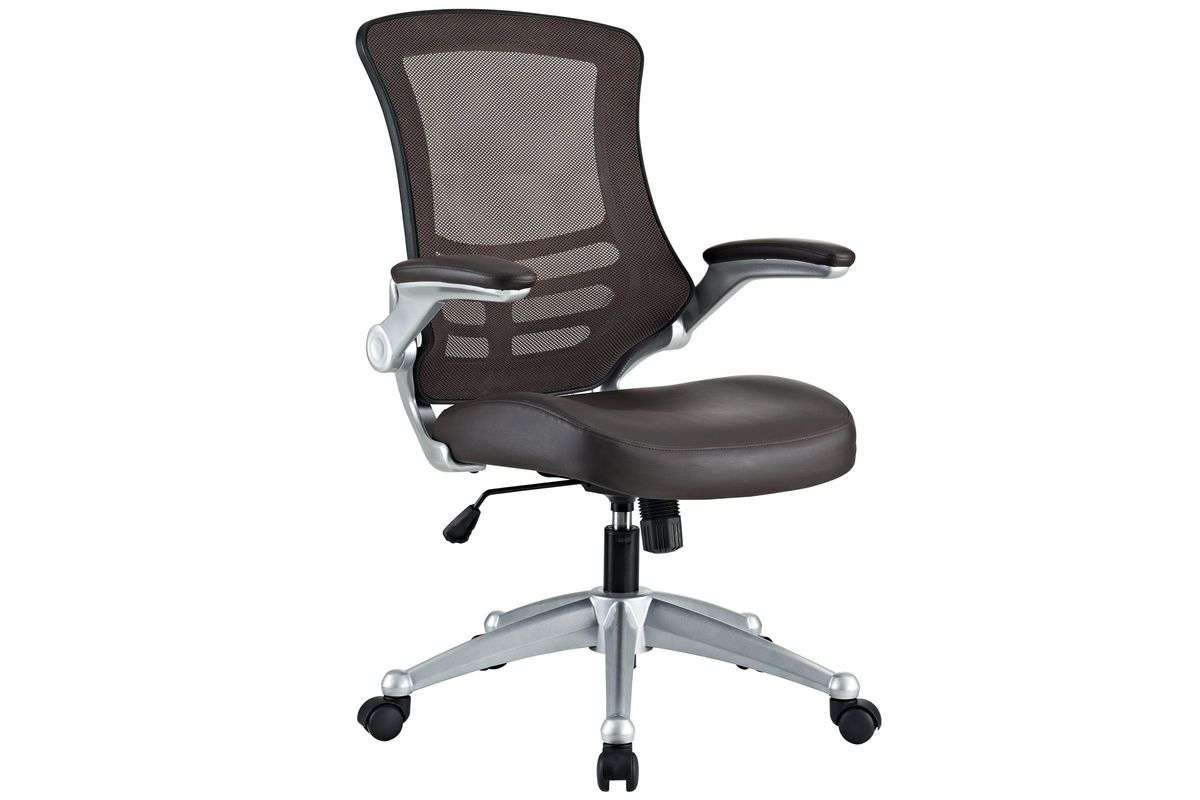 Attainment Office Chair in Brown by Modway from Gardner-White Furniture