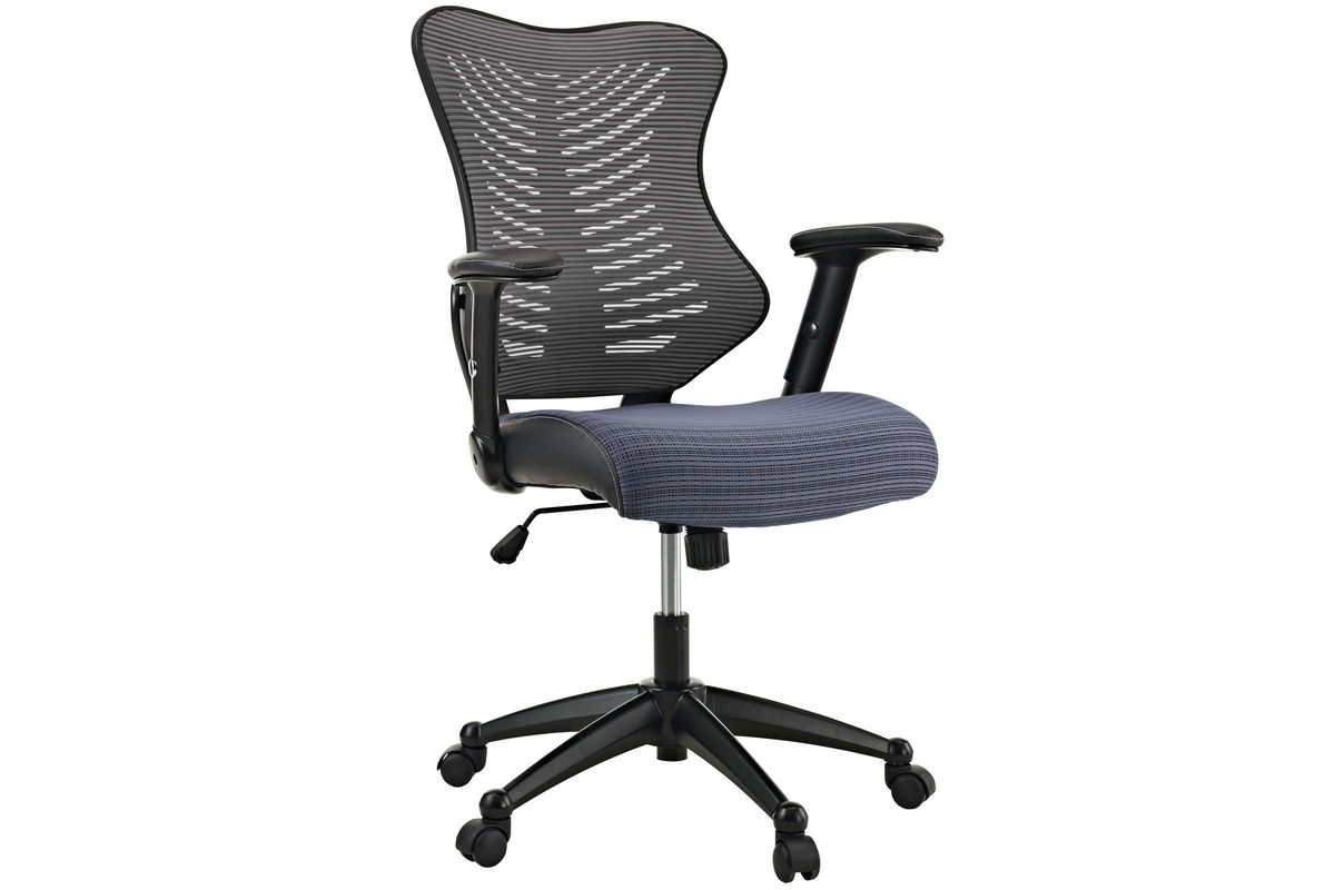 Clutch Office Chair in Grey by Modway from Gardner-White Furniture