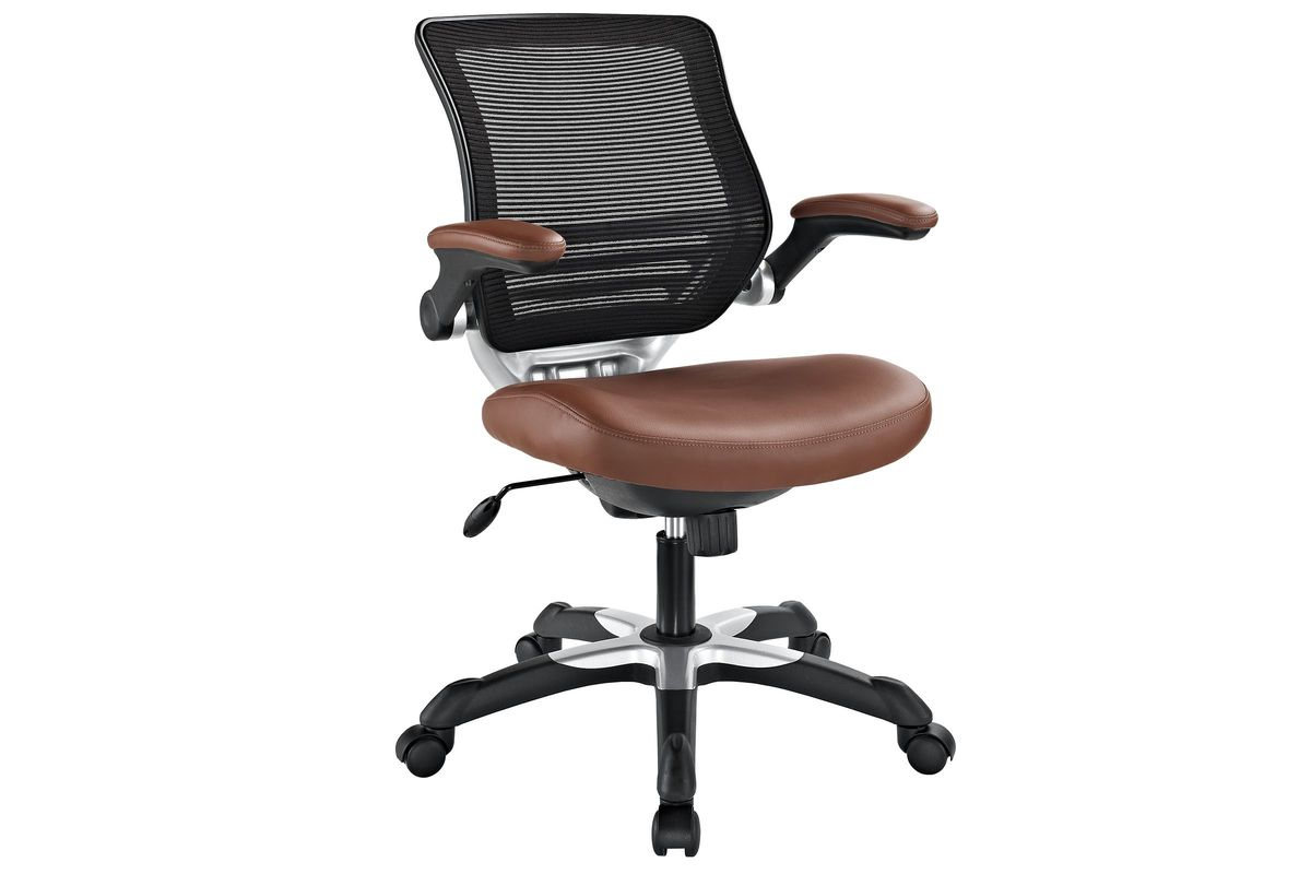 Edge Vinyl Office Chair in Tan by Modway from Gardner-White Furniture