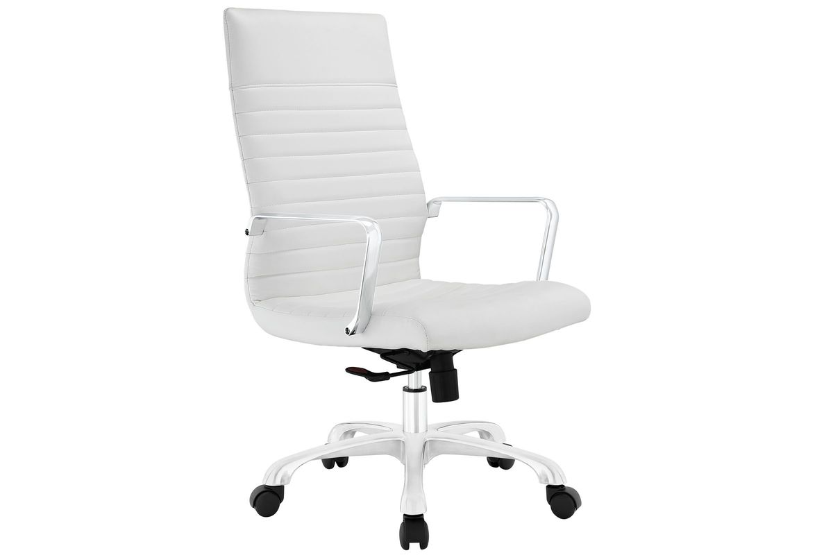 Finesse Highback Office Chair in White by Modway from Gardner-White Furniture