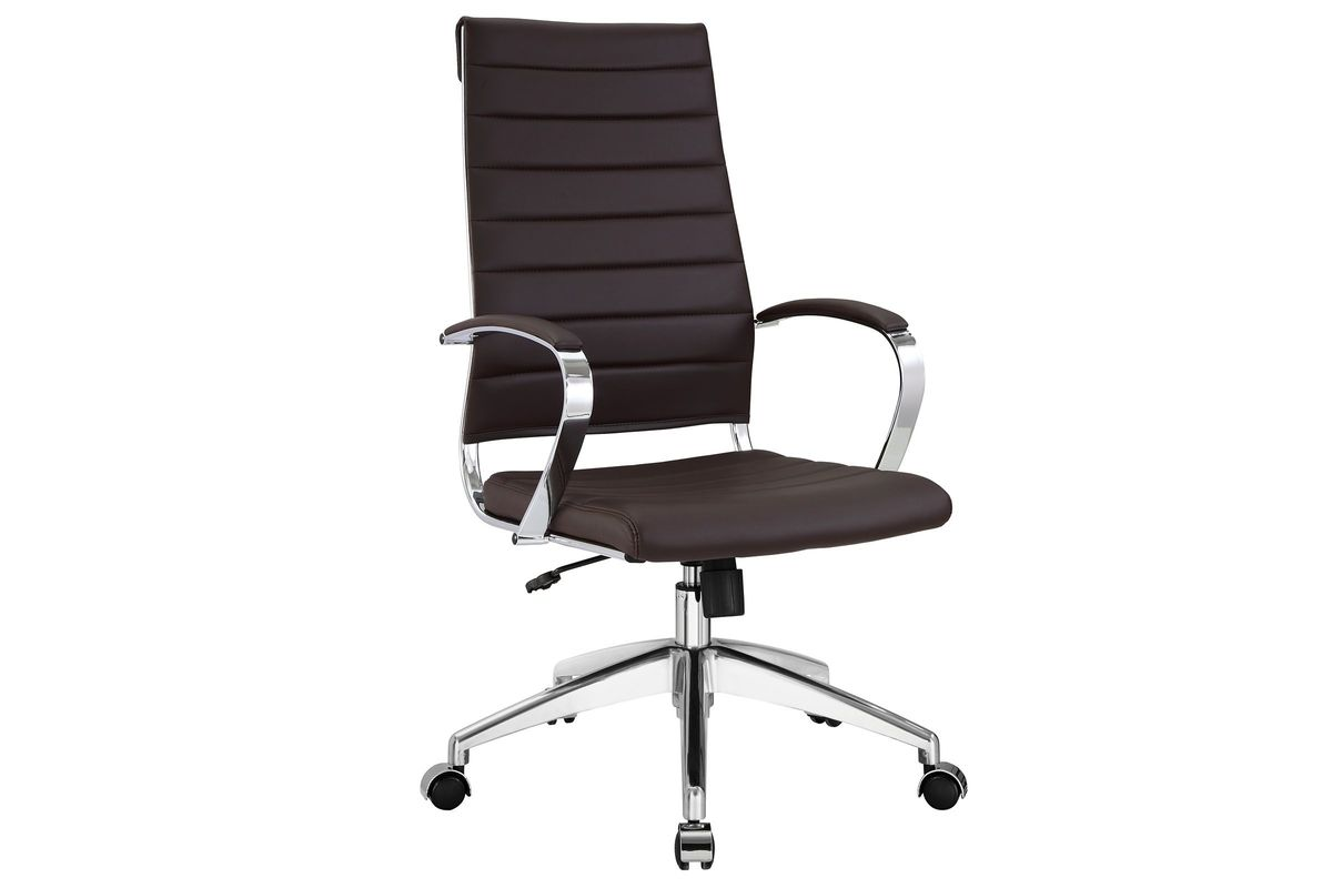 Jive Highback Office Chair in Brown by Modway from Gardner-White Furniture