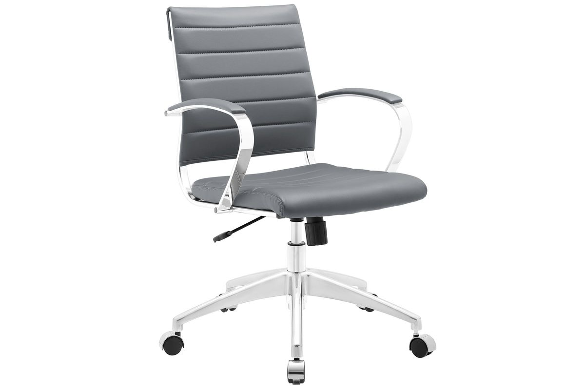 Jive Mid Back Office Chair in Grey by Modway from Gardner-White Furniture