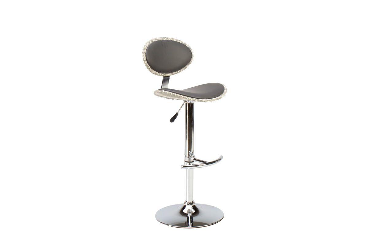 Rattan/Black Gas Lift Adjustable Bar Stool from Gardner-White Furniture