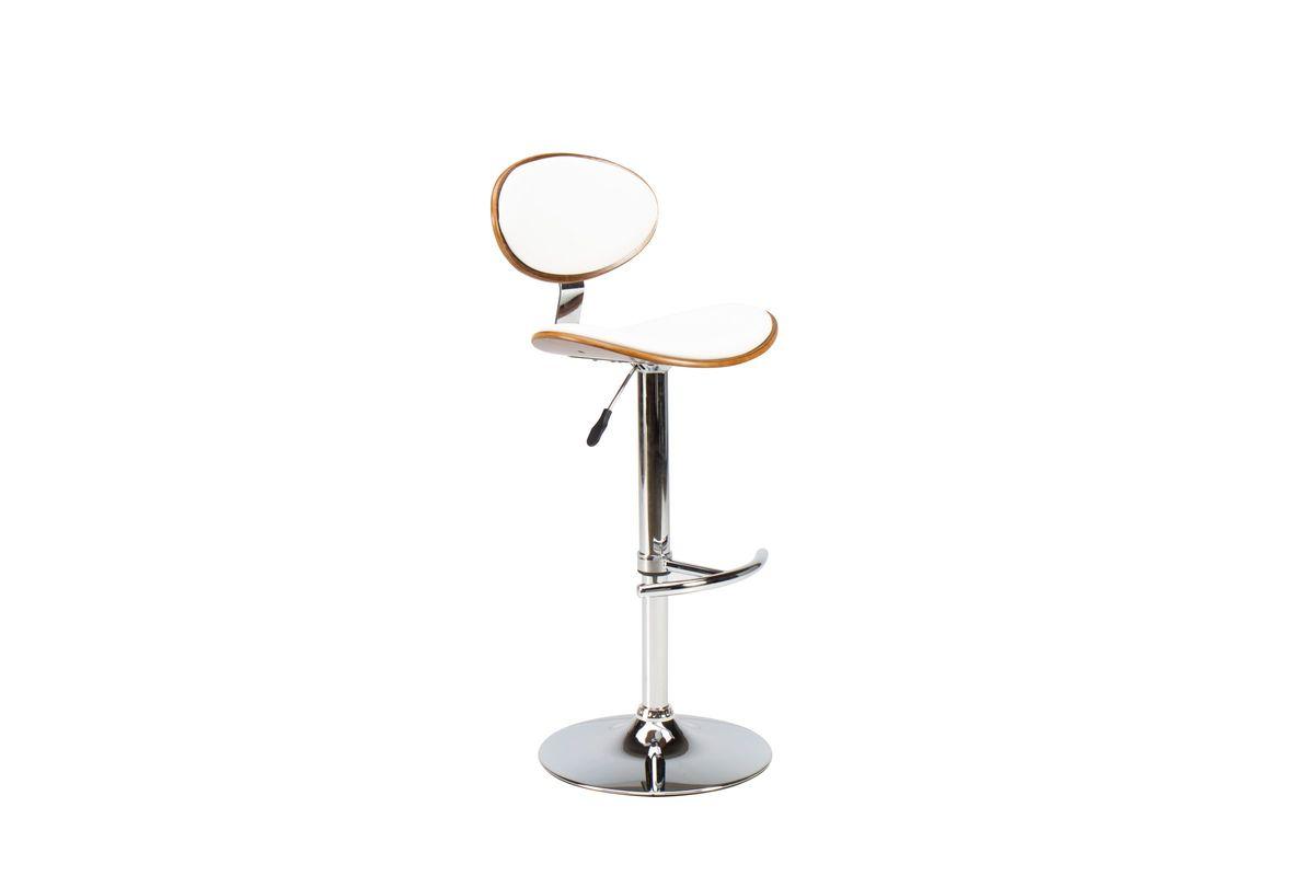 Wood/White Gas Lift Adjustable Bar Stool from Gardner-White Furniture