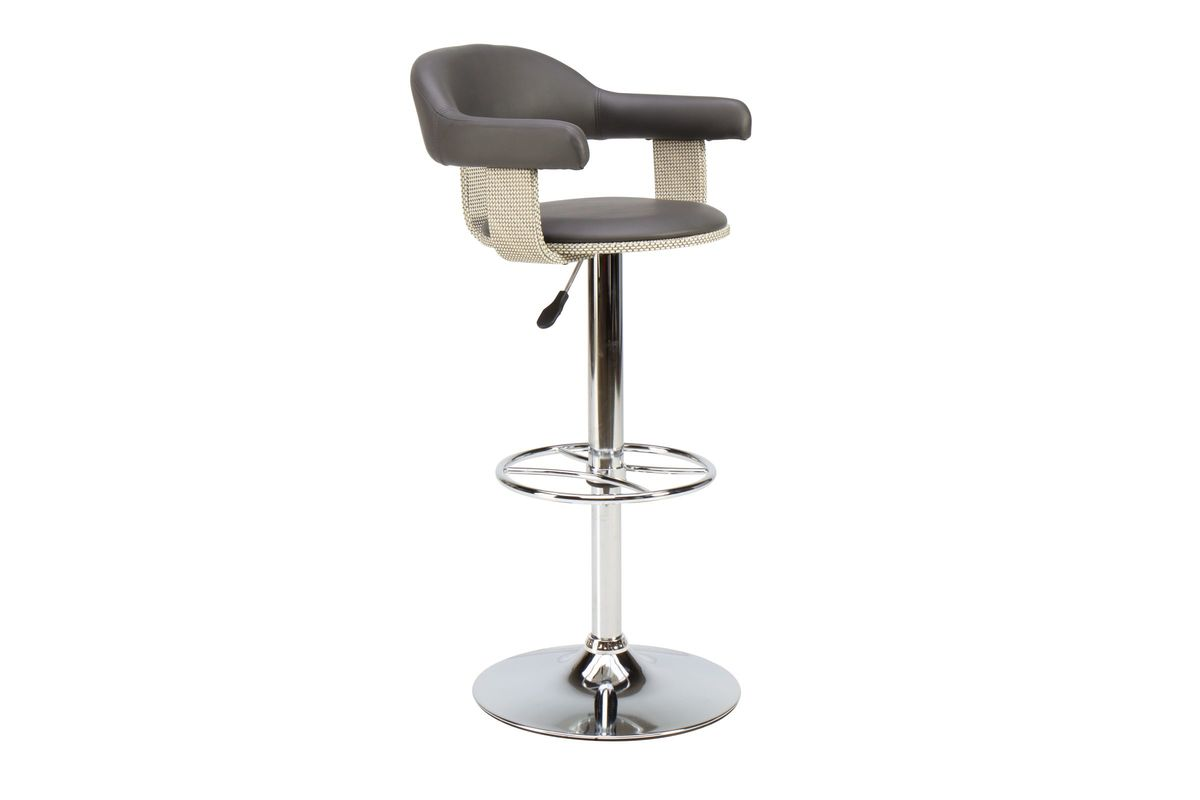 Grey Gas Lift Adjustable Bar Stool from Gardner-White Furniture