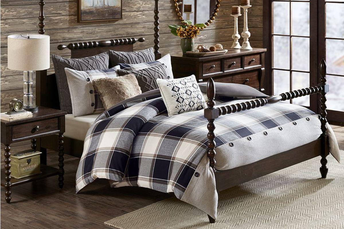 8 Piece Queen Cabin Comforter Set At Gardner White