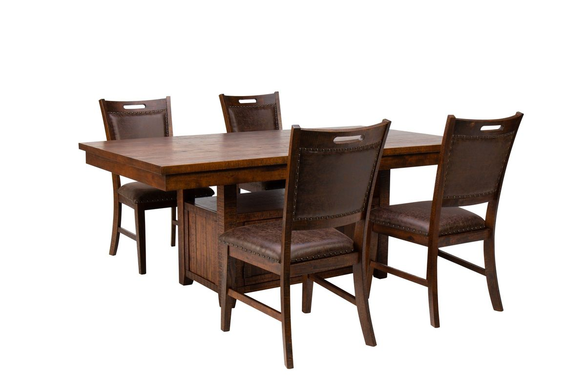 Arizona Adjustable Table + 4 Side Chairs from Gardner-White Furniture