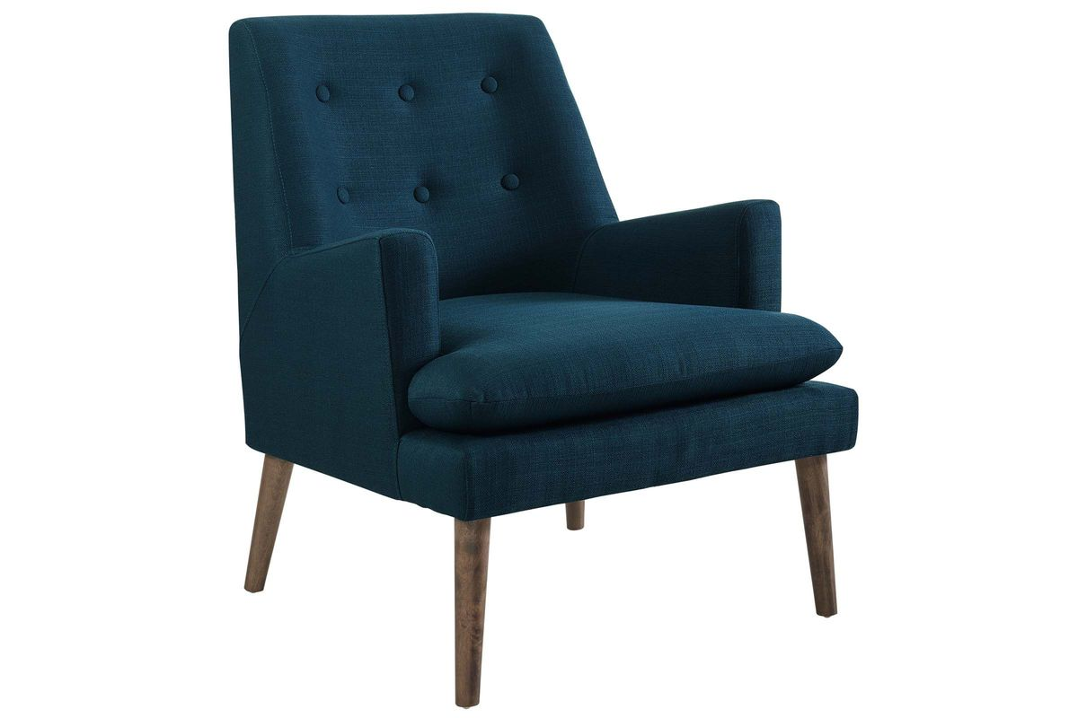 Leisure Upholstered Lounge Chair in Blue from Gardner-White Furniture