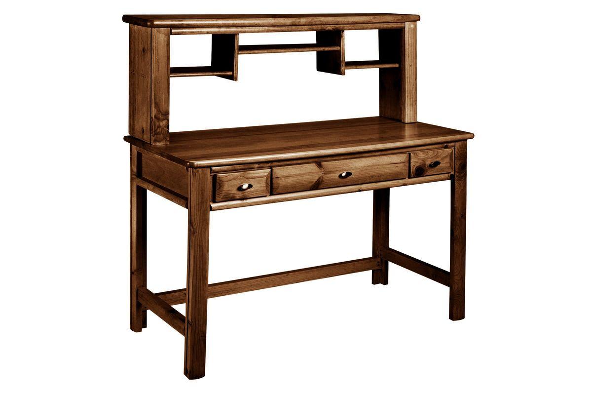 Laguna Chestnut Desk + Hutch from Gardner-White Furniture