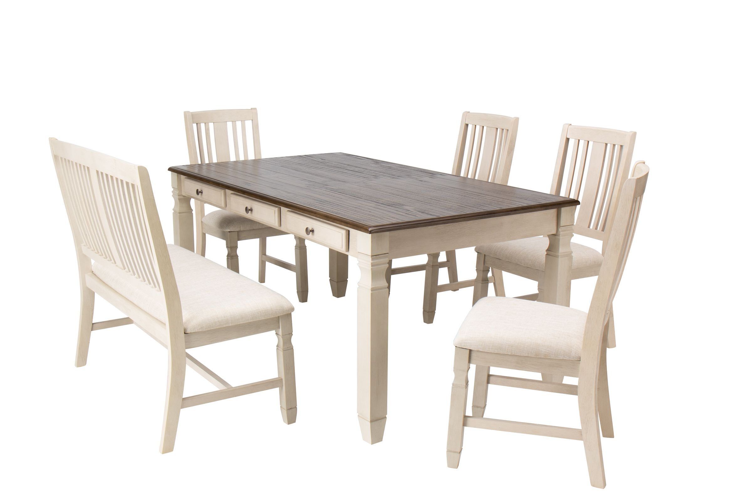 Venus Dining Table 4 Side Chairs Bench At Gardner White