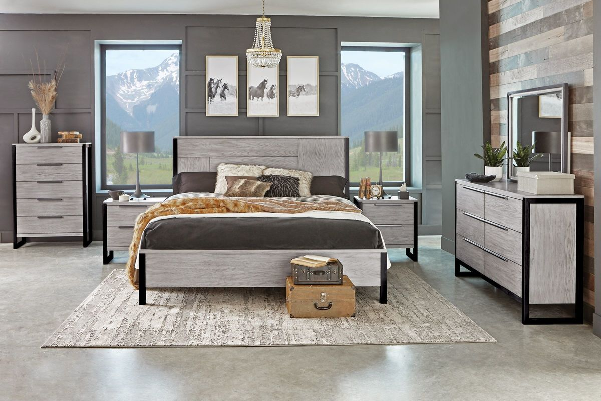 """jackson 5-piece queen bedroom set with 32"""" led-tv at"""