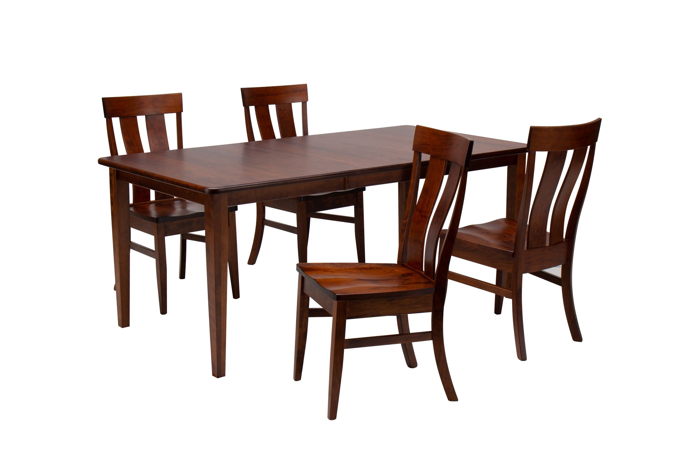 Franklin Solid Wood Dining Table 4 Side Chairs By Daniel S Amish