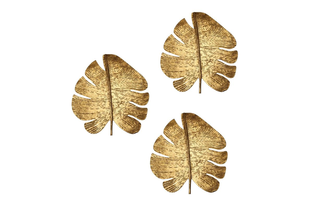 Gold Leaf Wall Art - Set of 3 by TOV from Gardner-White Furniture