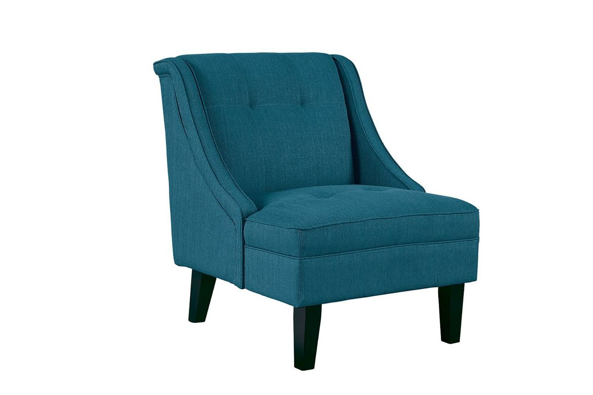 Clarinda Accent Chair in Teal by Ashley from Gardner-White Furniture