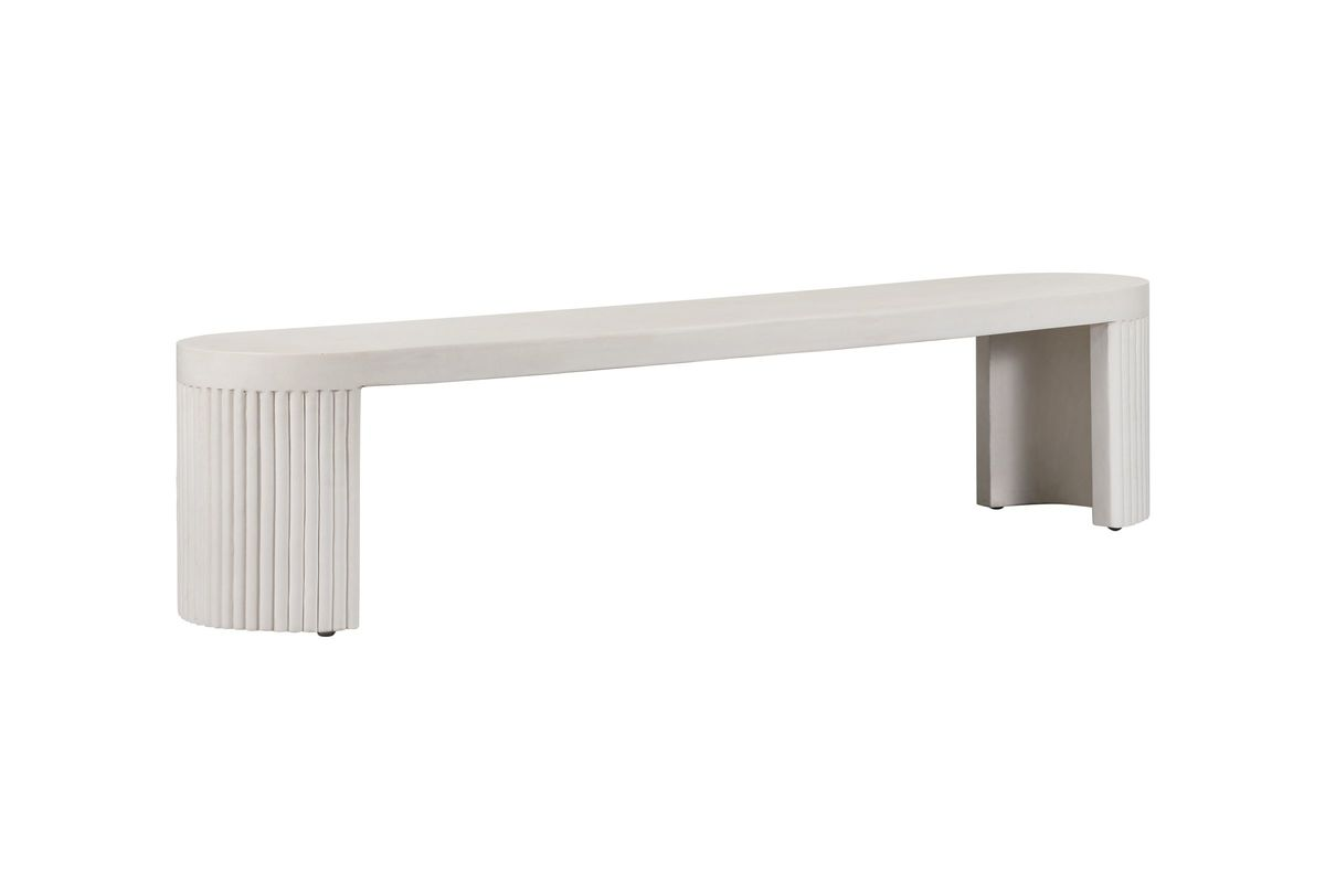 Wave Concrete Bench by TOV from Gardner-White Furniture
