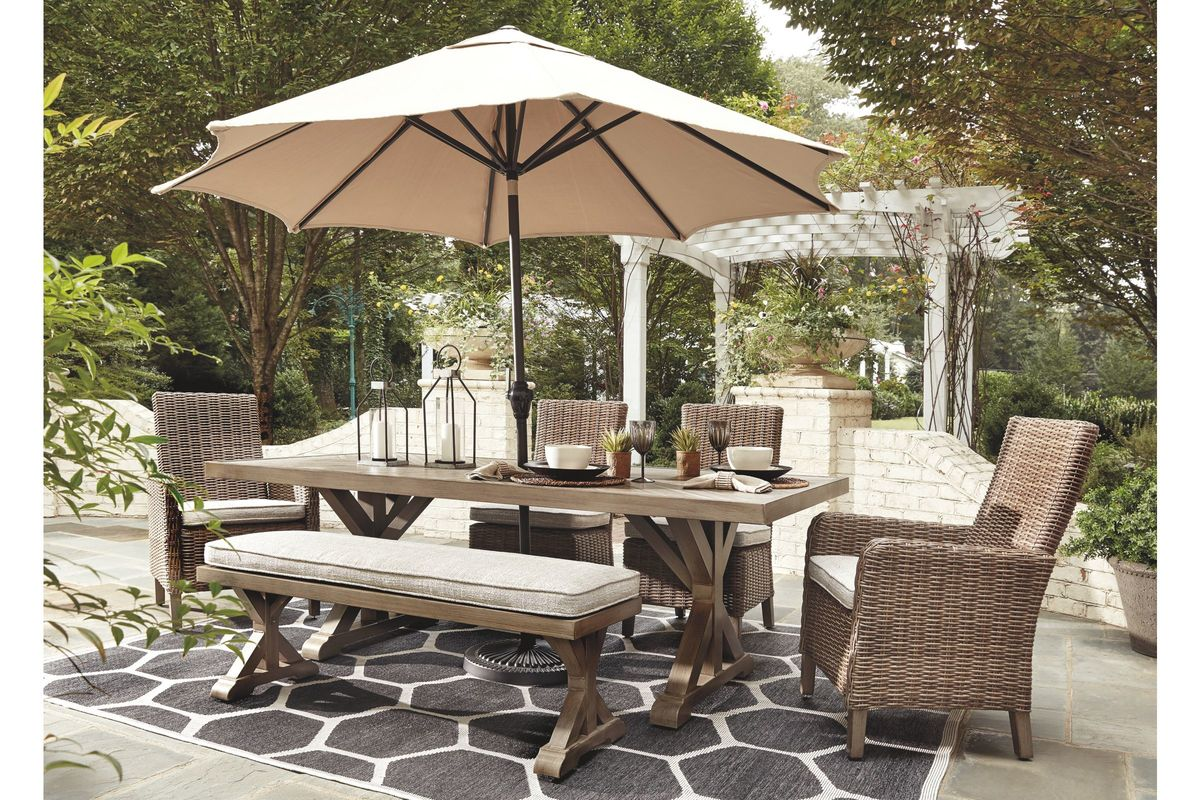 Beachcroft 6-Piece Outdoor Dining Set by Ashley from Gardner-White Furniture