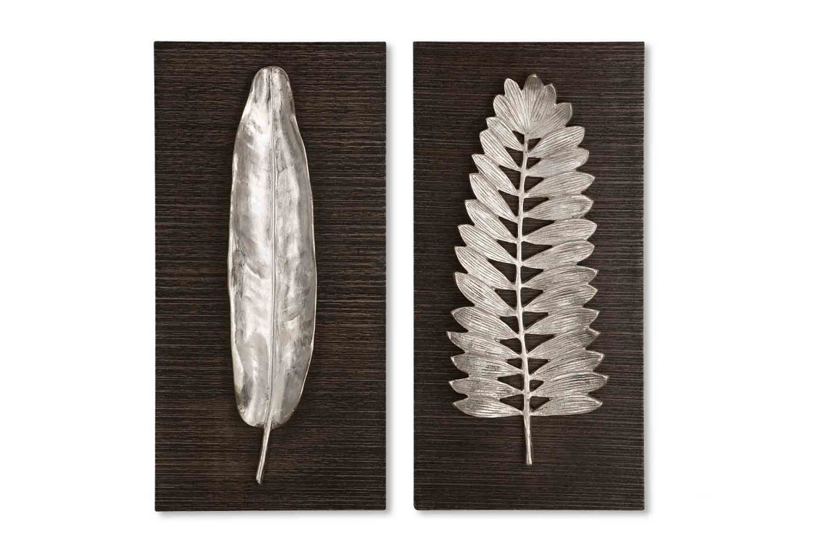 Uttermost Silver Leaves Wall Art from Gardner-White Furniture