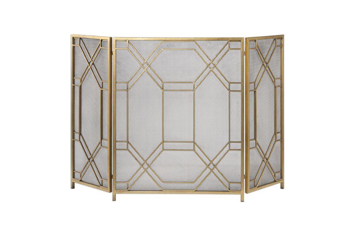 Rosen Gold Fireplace Screen from Gardner-White Furniture