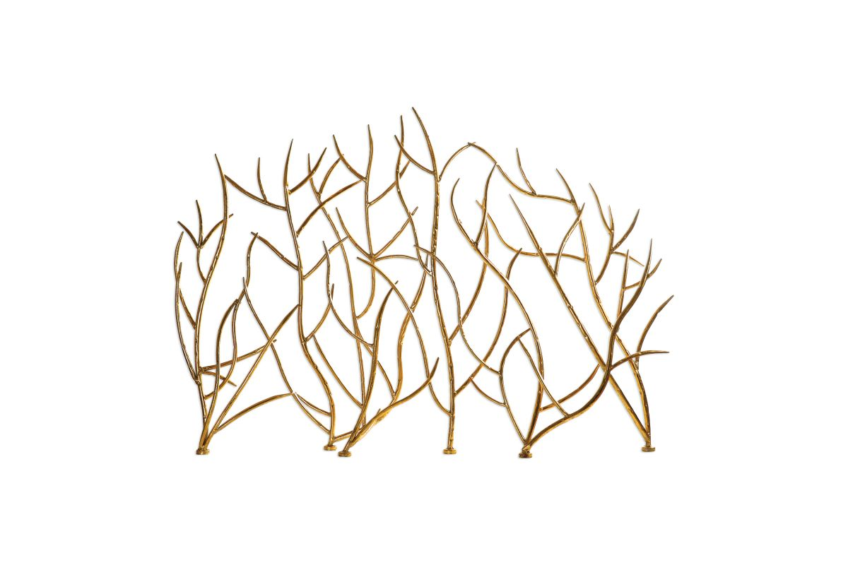Gold Branches Decorative Fireplace Screen from Gardner-White Furniture