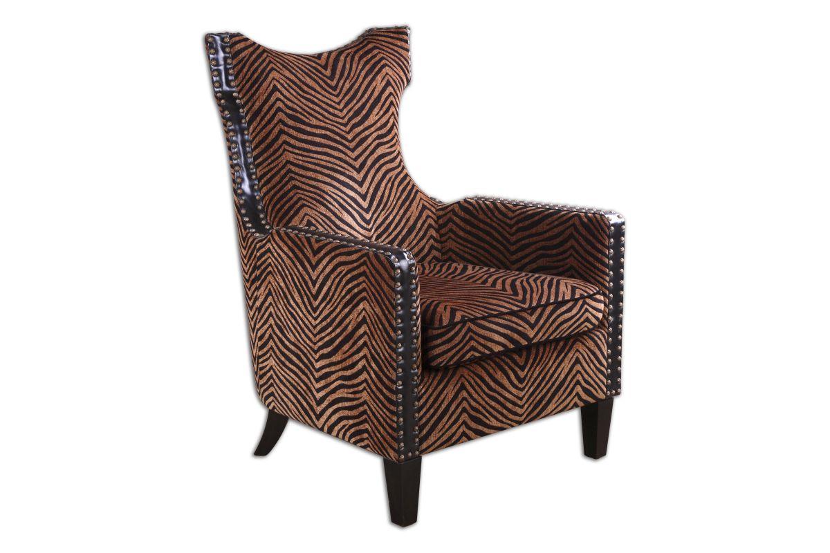 Uttermost Kimoni Wing Back Armchair from Gardner-White Furniture