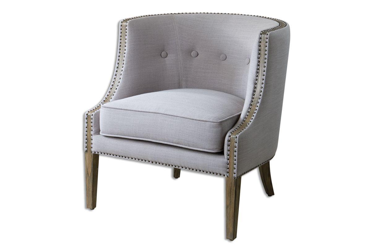 Uttermost Gamila Light Gray Accent Chair from Gardner-White Furniture