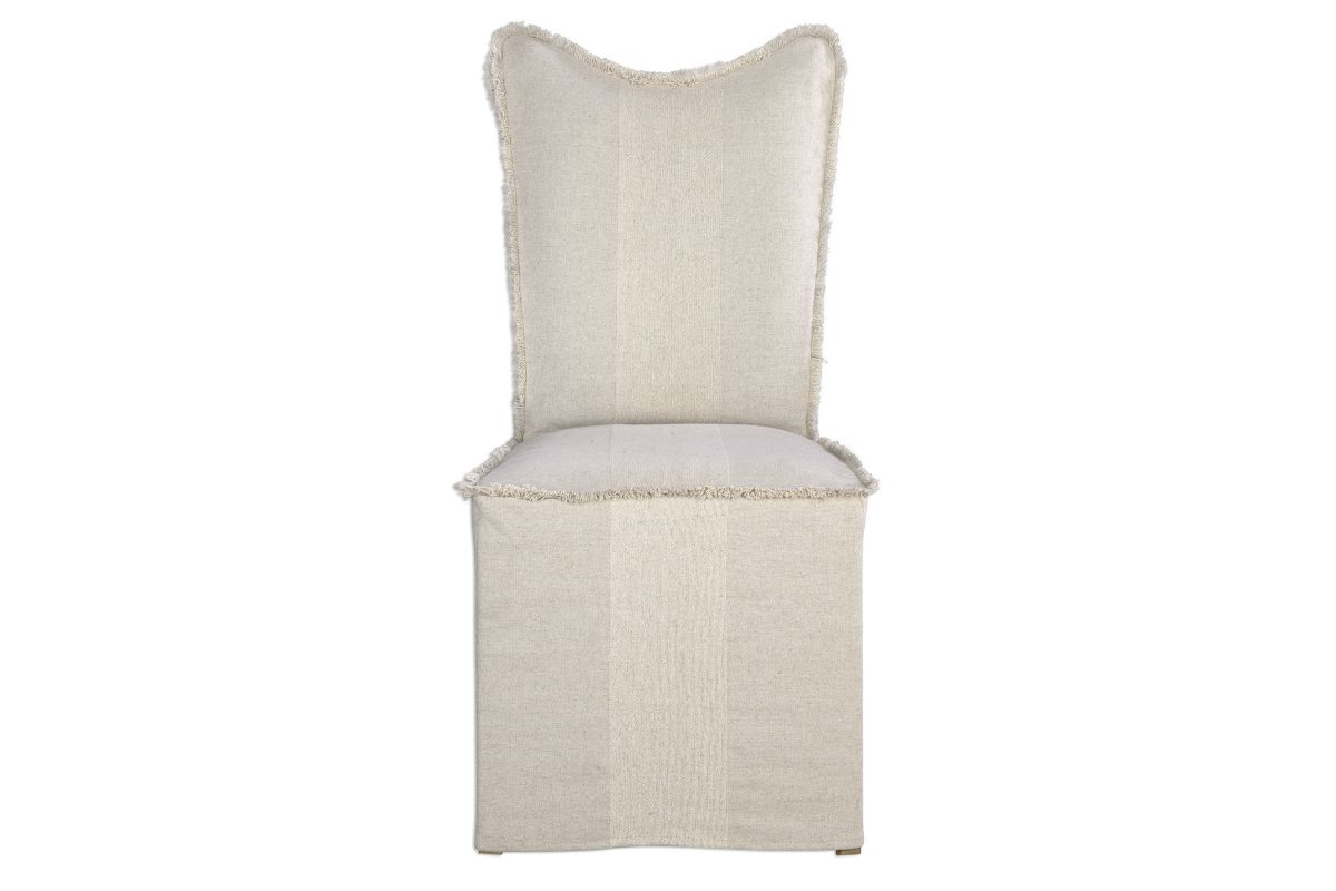 Uttermost Lenore Armless Chairs Flax Set Of 2 from Gardner-White Furniture
