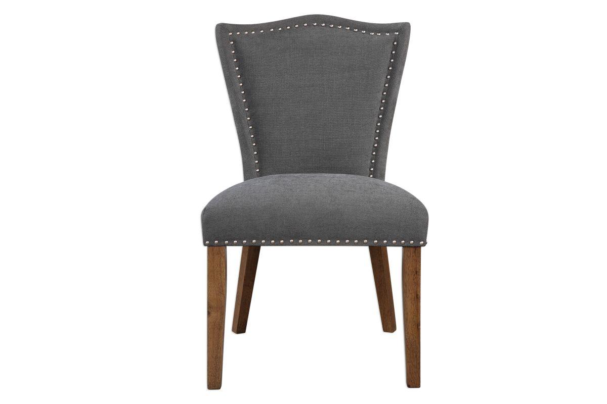 Uttermost Ruhls Gray Armless Chair from Gardner-White Furniture