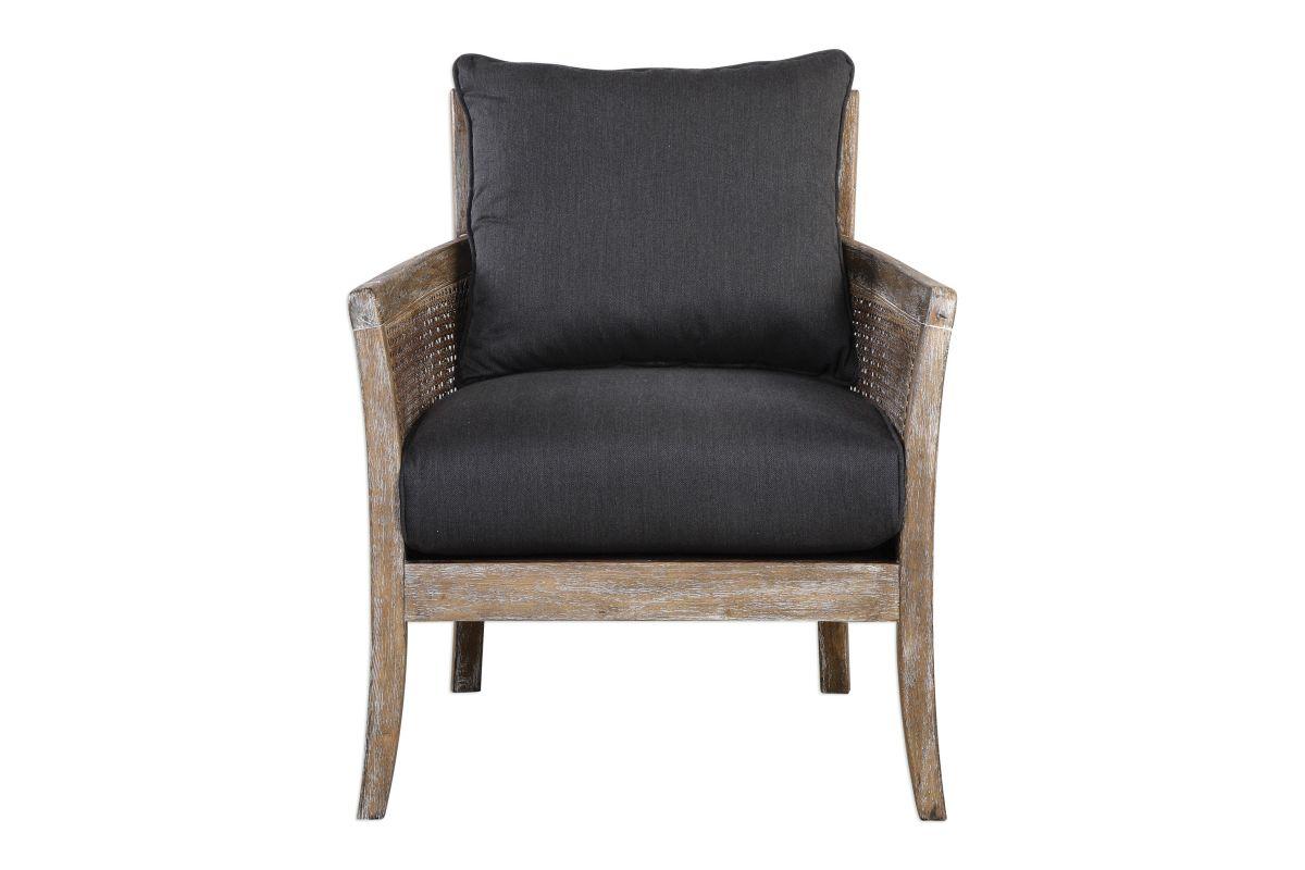 Uttermost Encore Dark Gray Armchair from Gardner-White Furniture