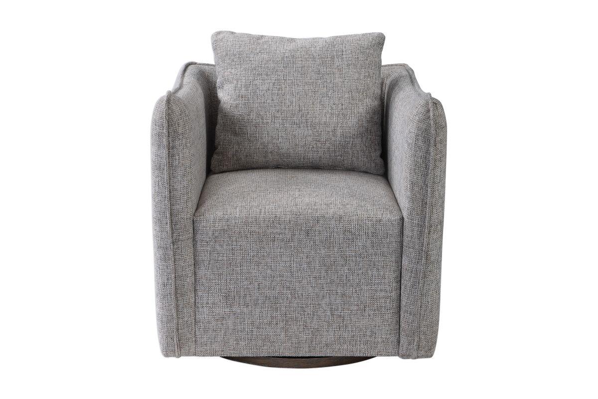 Uttermost Corben Gray Swivel Chair from Gardner-White Furniture