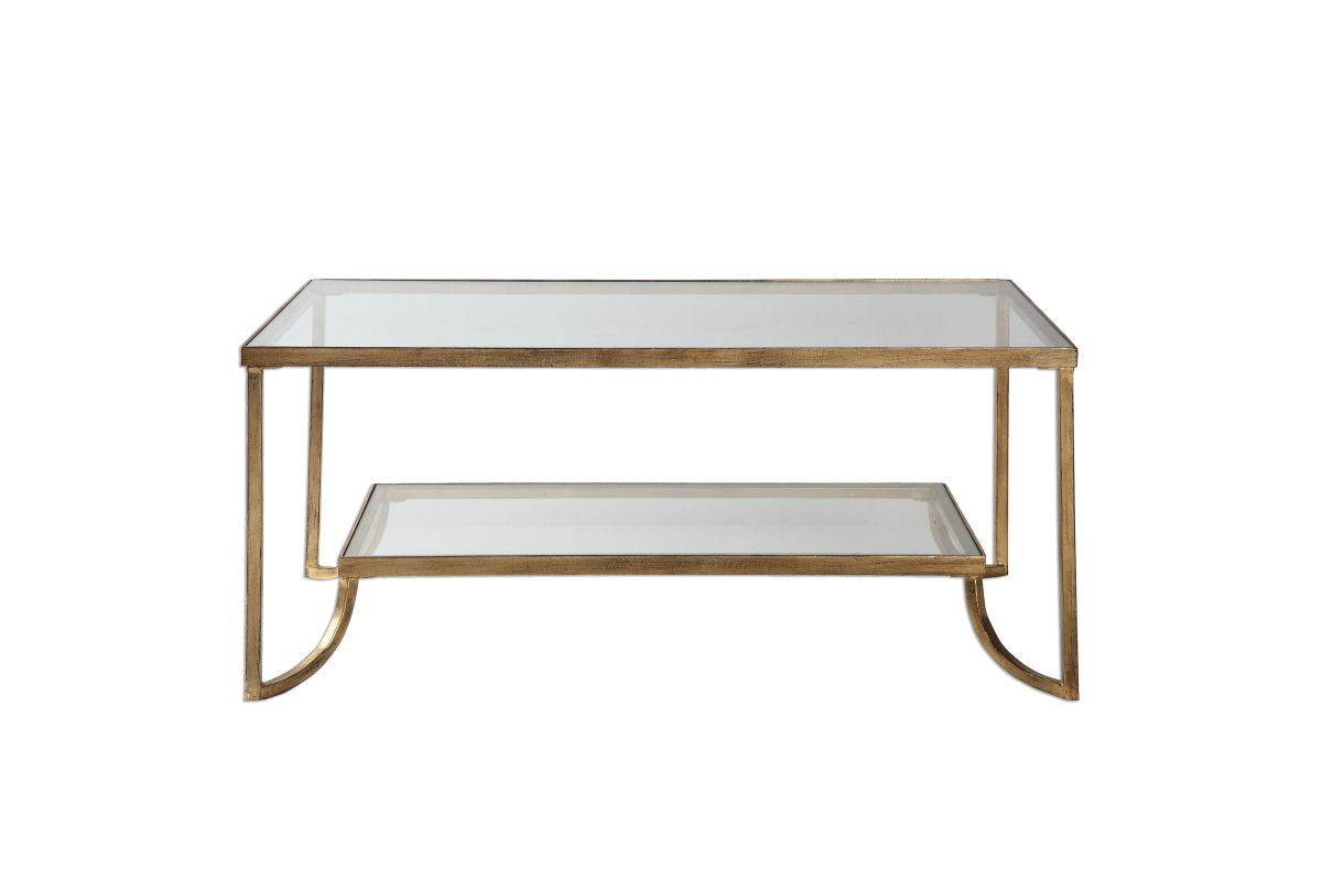 Uttermost Katina Gold Leaf Coffee Table from Gardner-White Furniture