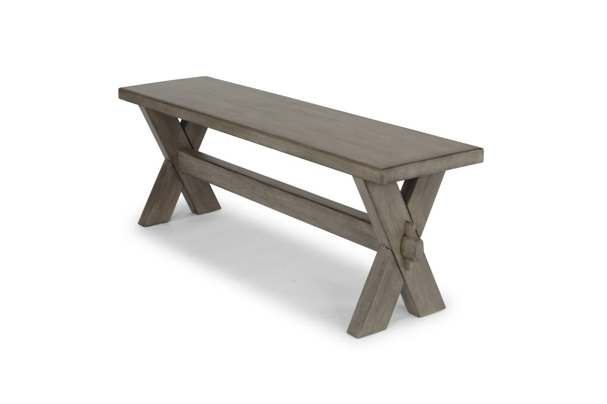 Mountain Lodge Gray Dining Bench by Home Styles from Gardner-White Furniture