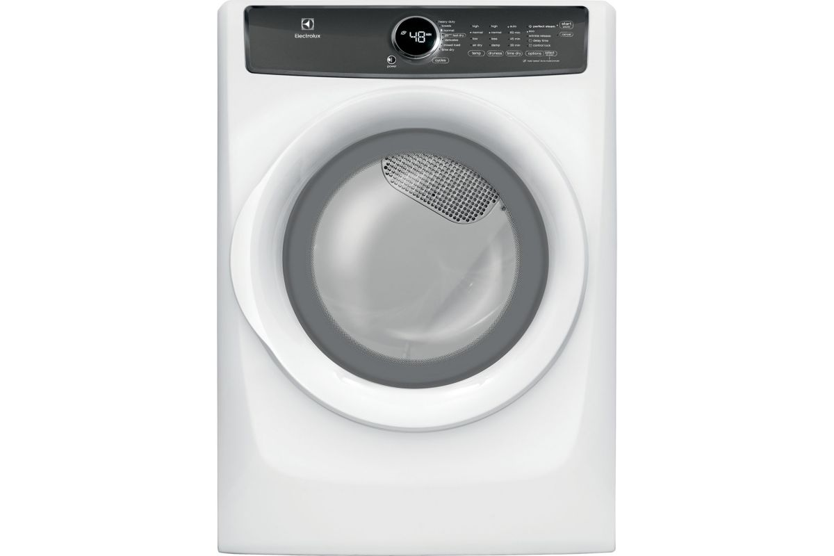 Electrolux 8.0 Cu. Ft. Front Load Perfect Steam Electric Dryer with 7 Cycles from Gardner-White Furniture